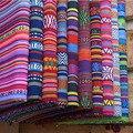 1 pçs = 45*150 cmcolor poliéster-tecido de mistura de algodão, sofá capa travesseiro cortina toalha de mesa tecido, estilo boho diy material