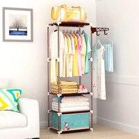 Clothing Racks for Home Coat Rack Floor Standing Clothes Hanging Storage Shelf Clothes Garment Hanger Racks Bedroom Furniture