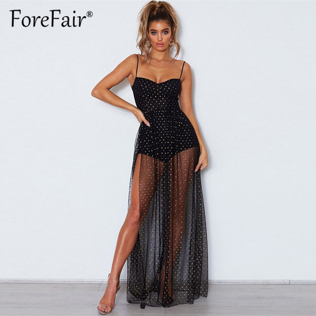 Elegant Mesh Party Dress