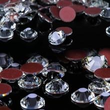 Round Glass Rhinestones Shapes Glitter Non Hotfix Ab Flatback Rhinestone White Crystal Rhinestone For Nails Art S033 цена