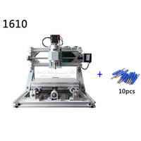 GRBL Control Mini Cnc Machine 1610 3axis Pcb Milling Router Work Area 160x100x45mm With Laser 500mw