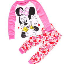 2017 Children cartoon pajamas Boy Girl Pajama Set Boys blouses and trousers 2pcs Sleepwear Cotton home clothing set 2-7y
