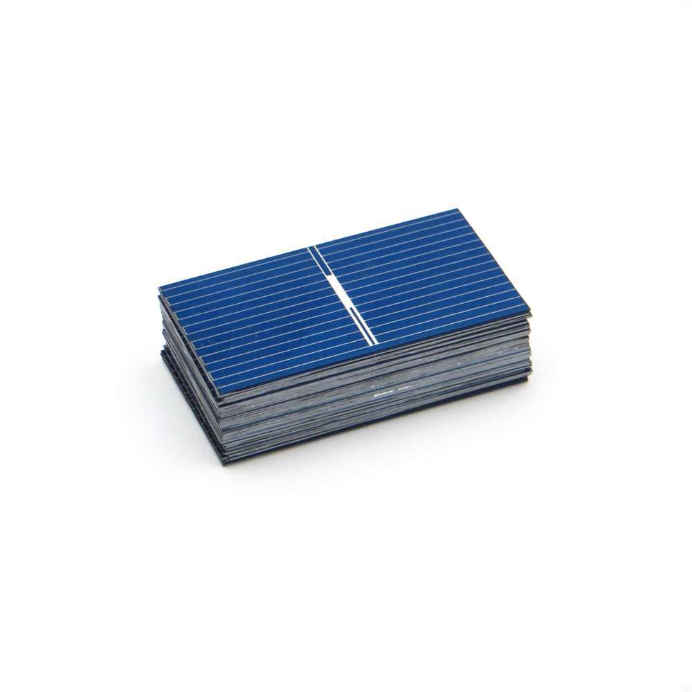 50pcs x Solar Panel China Painel Cells DIY Charger Polycrystalline Silicon  Placa Solar Bord 39*22mm 0 5V 0 14W