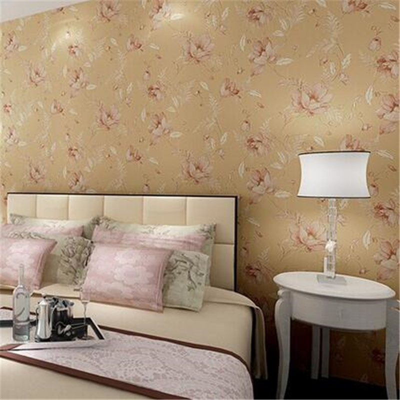 beibehang Embossed Country Style Floral Pattern Mural Wallpaper roll 3D Bedroom Background Modern Decoration Wall paper Roll 2015 new brand 5m roll victorian country style for floral flowers background wallpaper