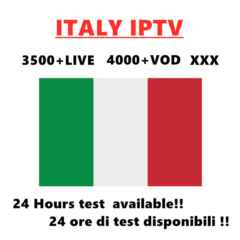 Italy IPTV M3U Subscription for Italy Support Andorid Enigma2 MAG Smart tv IOS PC in Set top Boxes from Consumer Electronics