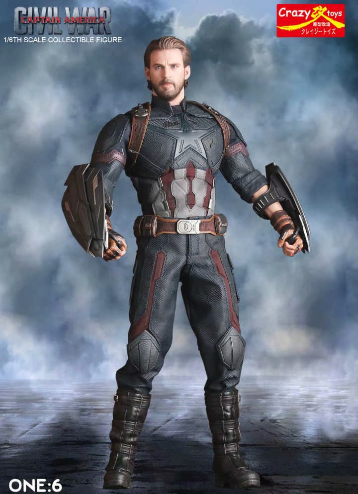 Action-Figure Collectible Crazy-Toys Statue Pvc Marvel Avengers Captain American Model-Toy