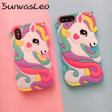For iPhone X XS XR Case 5 5S SE 5C 6 6s 7 8 Plus XS Max 3D Unicorn Cartoon Soft Silicone Case Phone Back Cover Skin Shell castle princess white snow prince cartoon phone case back cover silicone soft for iphone 6 7 8plus plus 5 5s 6 6s xs max xr