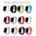 Nuevo fluoroelastómero lazo para apple watch sport band enlace pulsera para apple watch correa de silicona serie 1 serie 2 38mm 42mm