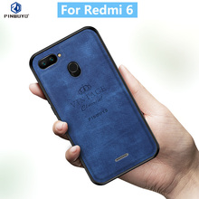 For Xiaomi Redmi 6 Original PINWUYO VINTAGE PU Leather Protective Phone Case for Mi Shockproof
