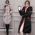2016 new winter coat female Korean hooded cotton casual fashion large size loose jacket female long