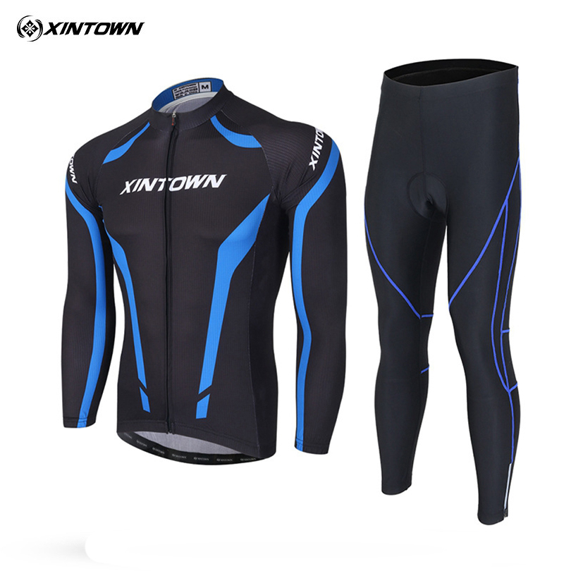 XINTOWN Team MTB Riding Cycling Clothing Set Autumn Breathable Bicycle Wear Long Sleeve MTB Bike Jersey Ropa Ciclismo Maillot 2016 high quality new cycling jersey women and men s mountain bicycle cycling clothing racing bike riding wear breathable