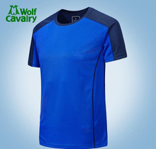 CavalryWolf Men Outdoor sports workout Running Quick-Dry male t shirts
