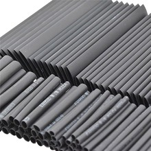 127pcs Brand New Black Cable Heat Shrink Tube Assortment Wrap Electrical Insulation Cable Tubing Best Price
