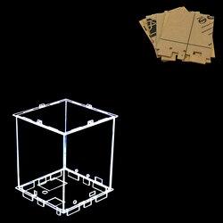 Tamaño 12x12x h15 cm DIY 3D 8 S mini luz LED cubeed acrílico-Nota: caja solo con el uso de Nuestros mini cubeed 3d8