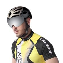 цена на KINGBIKE Cycling Helmet with Goggles Men Women Ultralight MTB Bike Helmet Mountain Road Women casco Specialiced Bicycle Helmets