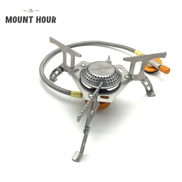 3500W Portable Outdoor Folding Gas Stove Camping Equipment Hiking Picnic Igniter Ultralight Camping Split Gas Stove