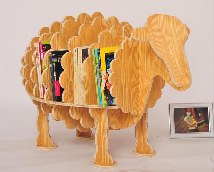 Wooden Bookcase Bookshelf Storage Shelf For Books Creative Children Furniture Decorative Bookcase Display Cabinet Stand For Kids