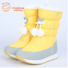 Waterproof Antifreeze Baby Snow Boots Baby Girls Winter Shoes Non-Slip High Quality Baby Warm Cotton Shoes Chaussure Enfant