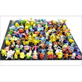 Wholesale Lots 24 pcs Poke mini random Pikachu Pearl Figures toys 2-3 cm Free Shipping Drop Shipping chaos black best gifts kids