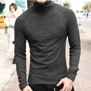 Image 4 - Zimowy sweter męski sweter marki nowy gruby ciepły sweter sweter męski dorywczo komputer dzianinowe swetry Slim Fit dzianina J541