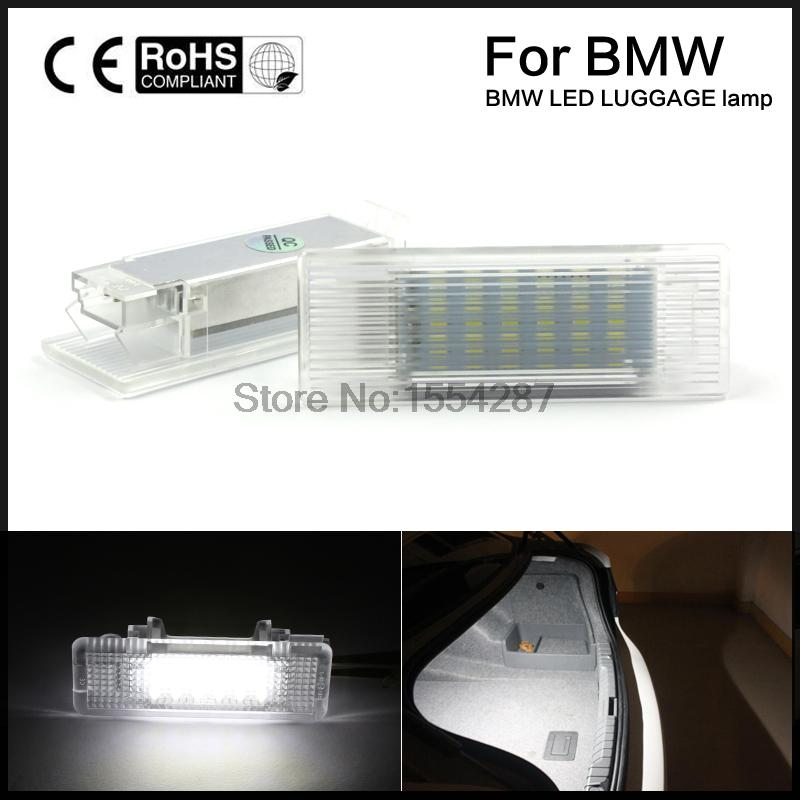 2pcs direct fit LED Luggage Trunk Light Interior No Error BMW 5-series E39 E60 F10 M5 E61 F11 GT for volkswagen passat b6 b7 b8 led interior boot trunk luggage compartment light bulb