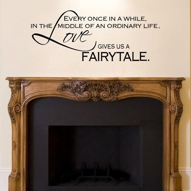 Online Shop Amazon Hot Love Gives Us A Fairytale Removable Art Vinyl