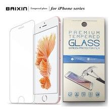 HD ясный Протектор Экрана Закаленное Стекло Пленка Для Alppe iPhone 4 4S 5 5S 6 6 S Плюс 7 7 плюс защитный чехол пленка + Розничная упаковка