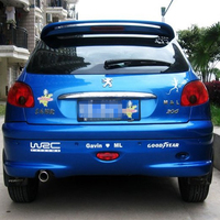 2008 2009 2010 2011 2012 2013 Bidirectional air flow model spoiler for peugeot 207 206 by high quality ABS by primer DIY paint