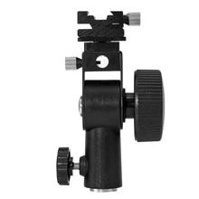 Godox Işık Standı Tipi D Flaş Speedlite Sıcak Ayakkabı Montaj Braketi şemsiye tutucu Speedlite Canon 1/4