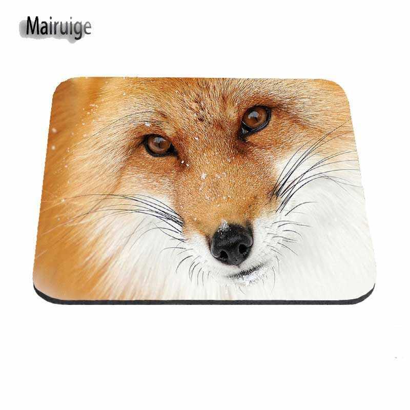 Mairuigeสัตว์ทะเลทรายหูFennec Foxและใบหน้าตลกที่กำหนดเองแผ่นรองเมาส์เล่นเกมสำหรับขนาด18*22เซนติเมตรและ25*29และ25*20เซนติเมตรm ousepad