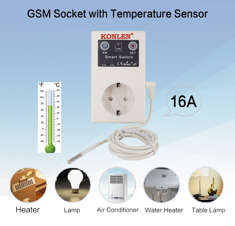 16A GSM socket remote control switch 1