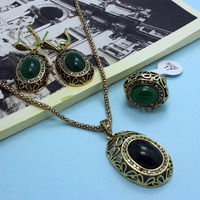Bridal Jewelry Luxury Brand Anniversary Jewelry Sets Women's Vintage accessories Sets Fashion Women Turkishe Jewellery sets Vaz
