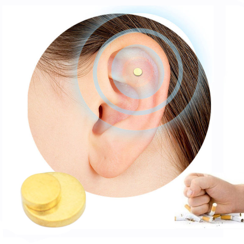 2PCS-Magnet-Auricular-Quit-Smoking-Zerosmoke-ACUPRESSURE-Patch-Not-Cigarettes-Health-Therapy
