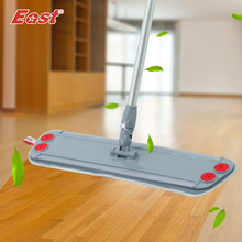 Best price East Trapezoid Flat Mop Telescopic with microfiber cloth can clip towel for home floor kitchen living room cleaning tools