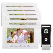 DIYSECUR 7inch Video Intercom Video Door Phone 700TV Line IR Night Vision Outdoor Camera for Home / Office Security System 1V6