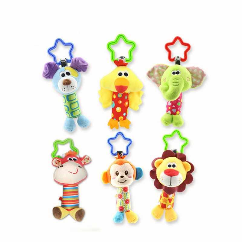 Baby Rattle Crib mobile Stroller Toys 0-12 months Plush Animal Bed Hanging Bell Newborn Infant Educational Sensory Toys For kids