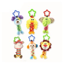 Baby Rattle Crib mobile Stroller Toys 0-12 months Plush Animal Bed Hanging Bell Newborn Infant Educational Sensory Toys For kids цена