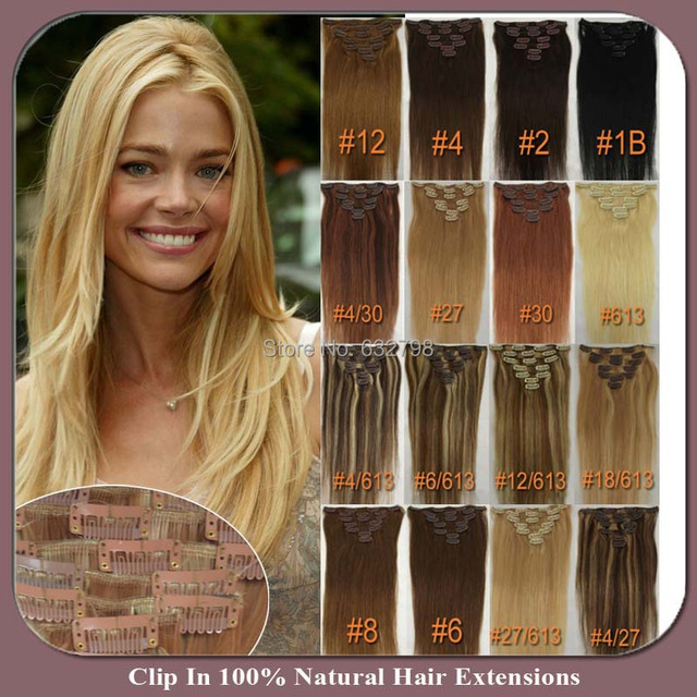 Clip In On Hair Extensions 22inch 8pcsset 100g Long Straight Real