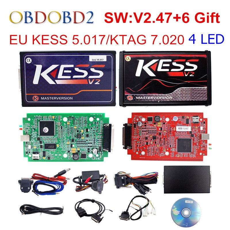 Интернет-мастер KESS V5.017 V2.47 красный PCB менеджер Тюнинг Комплект KESS 5,017 без маркеров для Car/грузовик/тягач бесплатная доставка