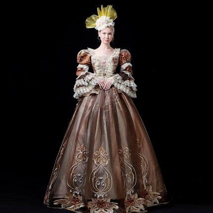 Костюмы рококо reenactation готический, викторианской эпохи платье на выпускной вечер театр женская одежда