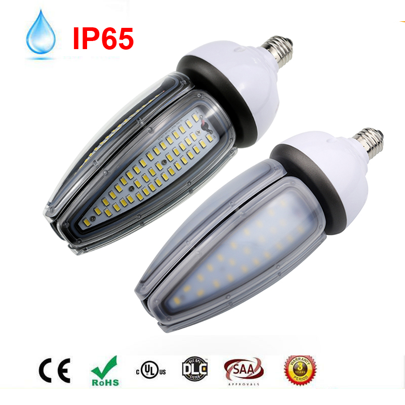 20PCS/LOT 30W 40W 50W Street Lamp led street light E40 road lamp base led corn Waterproof IP65 AC100V 277V Outdoor Lighting