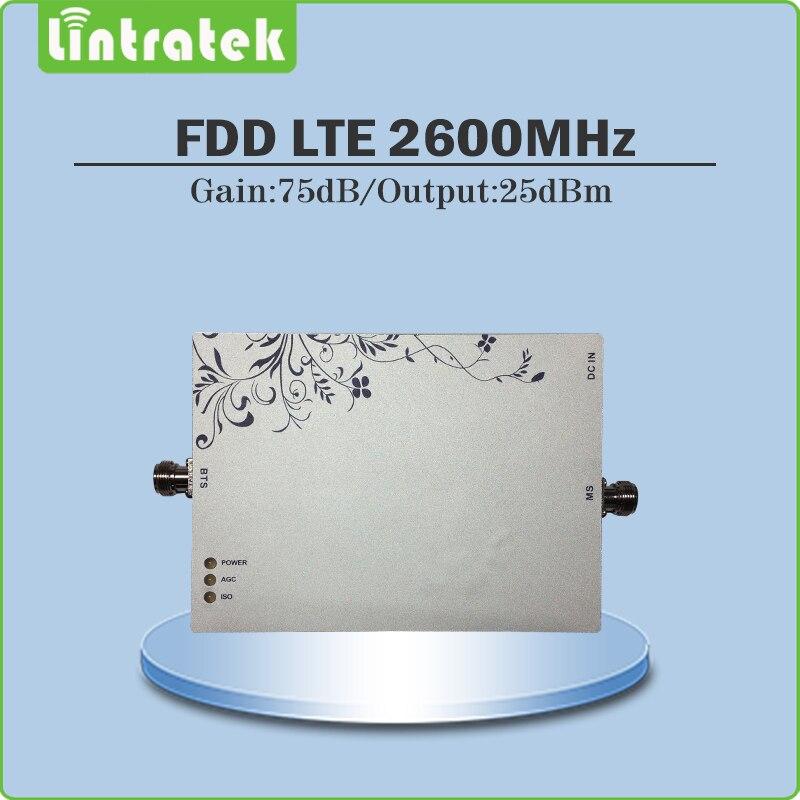 Répéteur de téléphone portable Lintratek 4G LTE amplificateur de amplificateur de signal LTE 2600 mhz 4G amplificateur de signal cellulaire AGC/MGC 70dB bande 7 @ 8.6