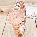 Mulheres Relógios Banda de Aço Inoxidável Moda Quartzo Analógico Relógio de Pulso Rose Ouro/Prata Liga Relógio Senhoras Relógio Ocasional Luxo