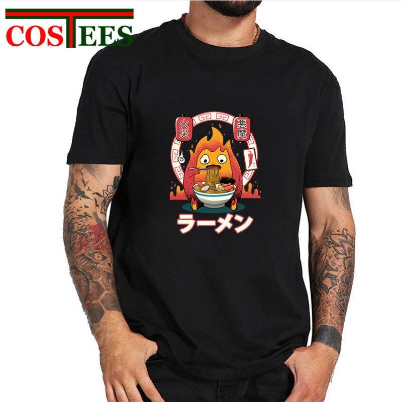 362376e87 Detail Feedback Questions about Parody Fire Demon Ramen T shirts men Japan  food noodles manga Ghibli T shirts Funny Streetwear hip hop tshirt harajuku  Tops ...