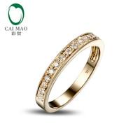 0 25ct SOLID 14k YELLOW GOLD NATURAL DIAMOND ENGAGEMENT WEDDING BAND RING SETTINGS