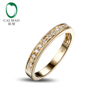 0 25ct SOLID 14k YELLOW GOLD NATURAL DIAMOND ENGAGEMENT WEDDING BAND RING SETTINGS