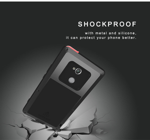 Image 4 - For SONY Xperia XA2/ XA2 Ultra Case LOVE MEI Shock Dirt Proof Water Resistant Metal Armor Cover Phone Case for Sony Xperia XA2