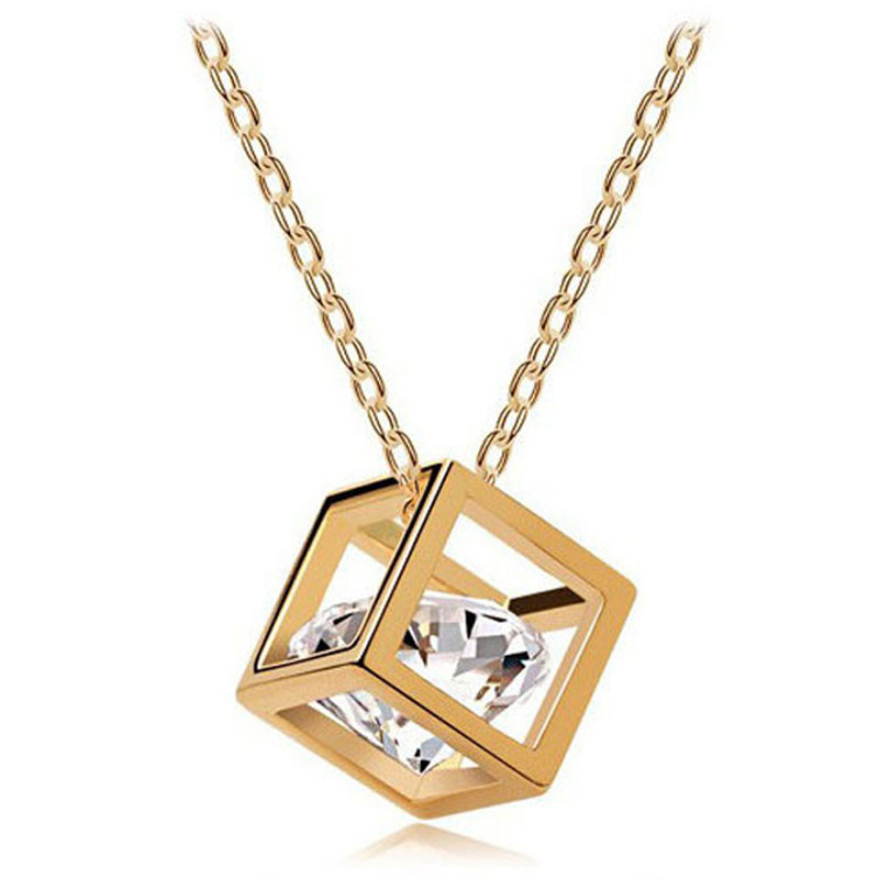 Stylish Pendant Necklace Women Necklaces Chain Ladies Jewelry Chic Crystal Choker Pendant Couple Collares De Moda 2019 NEW L0704