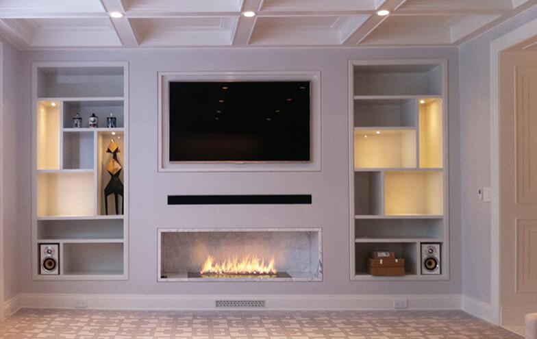 24 Inch Silver Or Black Wifi Real Fire Intelligent Indoor Auto Ethanol Fireplace With Remote Control