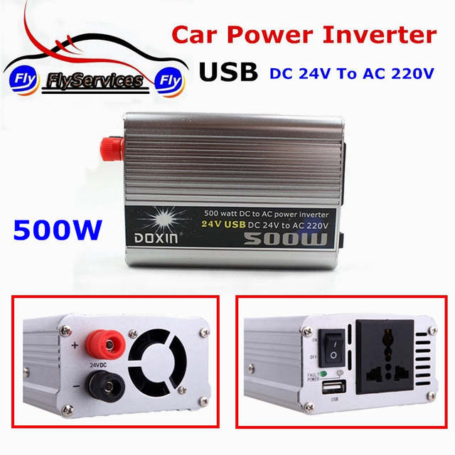 Placeholder Universal Car Battery Charger 500 Watt Inverter 500w Dc 24v To Ac 220v Auto